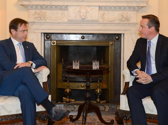 """Bart De Wever meets David Cameron: """"Together for change"""""""